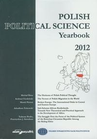Polish political science yearbook 2012 - dostawa od 3,49 PLN - brak