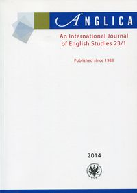 Anglica an international journal of english studies 23/1 - dostawa od 3,49 PLN - brak
