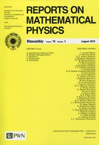 Reports on Mathematical Physics 76 2015 kraj - dostawa od 3,49 PLN - brak