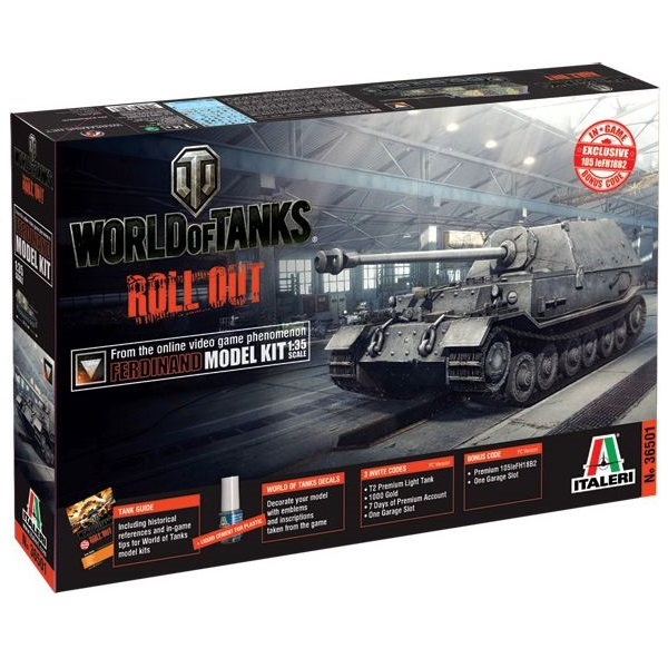 World of Tanks Ferdinand 1:35. Italeri