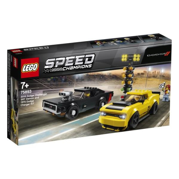 LEGO® Speed Champions 2018 Dodge Challenger SRT Demon oraz 1970 Dodge Charger R/T