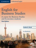 English for business studies student's book third edition