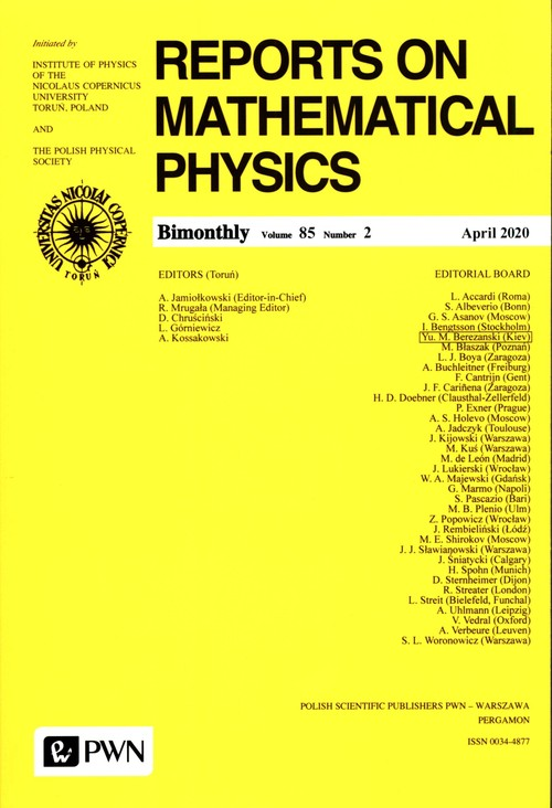 Reports On Mathematical Physics 86/3 - Polska